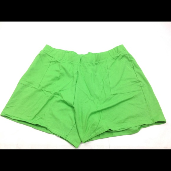 Just My Size Pants - New JMS Just My Size Women Shorts Green 4X